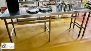 Stainless steel Preparation Table, 2000mm x 615mm (located in Main Kitchen, Basement) **** please