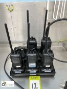 5 iCom Short Wave Radios with 6-station charging unit (located in Main Kitchen, Basement) ****