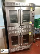 2 Bakers Pride gas fired double door Fan Ovens (located in Main Kitchen, Basement) **** please