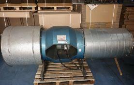 Inline powered Extraction Fan, 62cm/80cm diameter