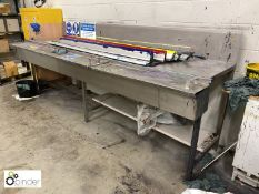 Stainless steel Squeegee Blade Wash Station