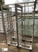 2 stainless steel 12-tray Trolleys, approx. 700mm x 600mm x 1800mm high (LOCATION: Croxton) / (