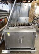 DCA Industries BFG stainless steel gas fired 8-lane Doughnut Fryer (LOCATION: Croxton) / (please
