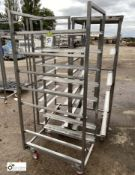 3 stainless steel 6-tray Trolleys, 760mm x 520mm x 1650mm high (LOCATION: Croxton) / (please note