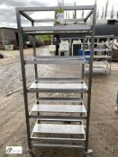 Stainless steel 5-tray Trolley, 765mm x 590mm x 1800mm high (LOCATION: Croxton) / (please note