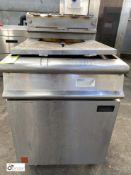 Falcon G3860 stainless steel gas fired twin basket Deep Fat Fryer (LOCATION: Croxton) / (please note