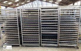4 18-tray Doughnut Racks, 820mm x 625mm x 1830mm high (LOCATION: Croxton) / (please note this lot