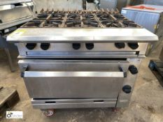 Chieftain stainless steel mobile 6-ring single door Gas Range (LOCATION: Croxton) / (please note