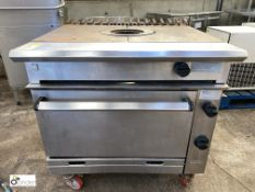 Chieftain stainless steel mobile gas fired bull nose contact single Oven (LOCATION: Croxton) / (