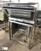 36PX-UMI stainless steel Electric Oven, 380volts, 4kw, damaged door, with stainless steel stand (