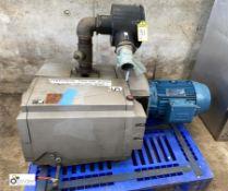 Becker type V4.400 SA/K Vacuum Pump, inlet capacity 400/480m³/h, vacuum 3/3m bar, year 2002,