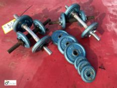 2 pairs Body Sculpture Dumbbells, including 14 various weights, 0.5kg to 2kg