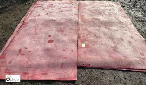 2 rubber Training Mats, 1400mm x 2600mm