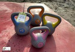 4 various Dumbbells, 2kg/4kg/6kg/8kg