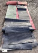 Approx 12 various rubber Training Mats, including Olympus