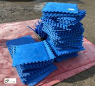 Approx 110 Interlocking Gym Floor Tiles, with quantity of interlocking edgings