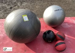 5 various Training Balls