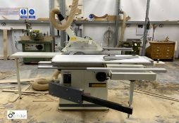 Axminster Plus SS1600-AE tilt arbor Panel Saw, sliding table 1600mm x 316mm, 415volts, serial number