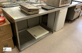 Shaped stainless steel Preparation Table, total overall length 3650mm x 850mm x 915mm (location: