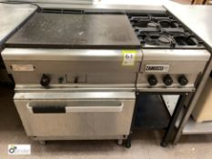 Zanussi stainless steel Contact Gas Range, with additional 2-ring gas hob (location: Level 2, B276