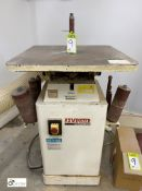 Axminster Big Bobi Bobbin Sander, with 9 various sized bobbin heads, 240volts and quantity unused