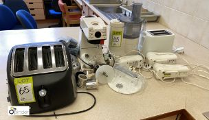 Quantity Food Mixers, Hand Blenders, Scales and 2 Toasters (location: Level 2, B276 Room)