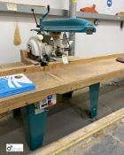 Wadkin Bursgreen pullover cross cut Radial Saw, 415volts, with 5 various blades (location: Level