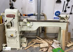 Wadkin RS Woodworking Lathe, 1000mm x 300mm swing, 400volts, serial number 2421, with work arm and