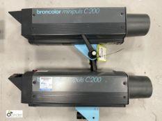 2 Broncolor Minipuls C200 Flash Lights (location: Level 1, Photography Room)