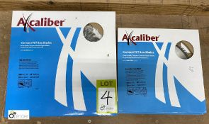 5 Axcaliber Saw Blades, 300mm, used and unused and 3 Axcaliber Saw Blades, 250mm, unused (