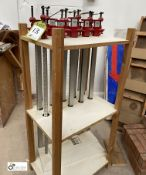 10 Quick Release Sash Clamps, 900mm, with stand (location: Level 1, Joinery Workrooms)