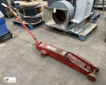 Sealey long carriage hydraulic Jack, 4000kg (please note this lot has a lift out fee of £5 plus