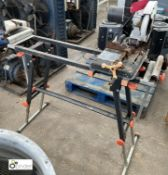 Rage Cut Off Saw, 240volts, with folding tool stand (please note this lot has a lift out fee of £5