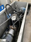 Hydraulic Power Pack with electric motor in stainless steel enclosure (please note this lot has a