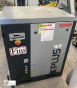 Fini Plus 16 08 Screw Compressor, 8bar, 400volts, year 2016 (please note this lot has a lift out fee