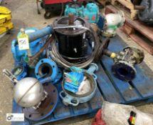 Quantity various Valves, etc, to pallet (please note this lot has a lift out fee of £5 plus vat)