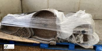 Large quantity steel Conveyor Belting, 600mm wide (please note this lot has a lift out fee of £10