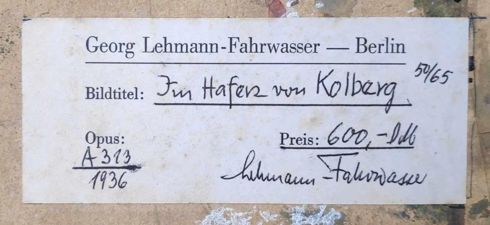 Lehmann-Fahrwasser, Georg (1887 Danzig - 1977 Berlin) - Bild 8 aus 8