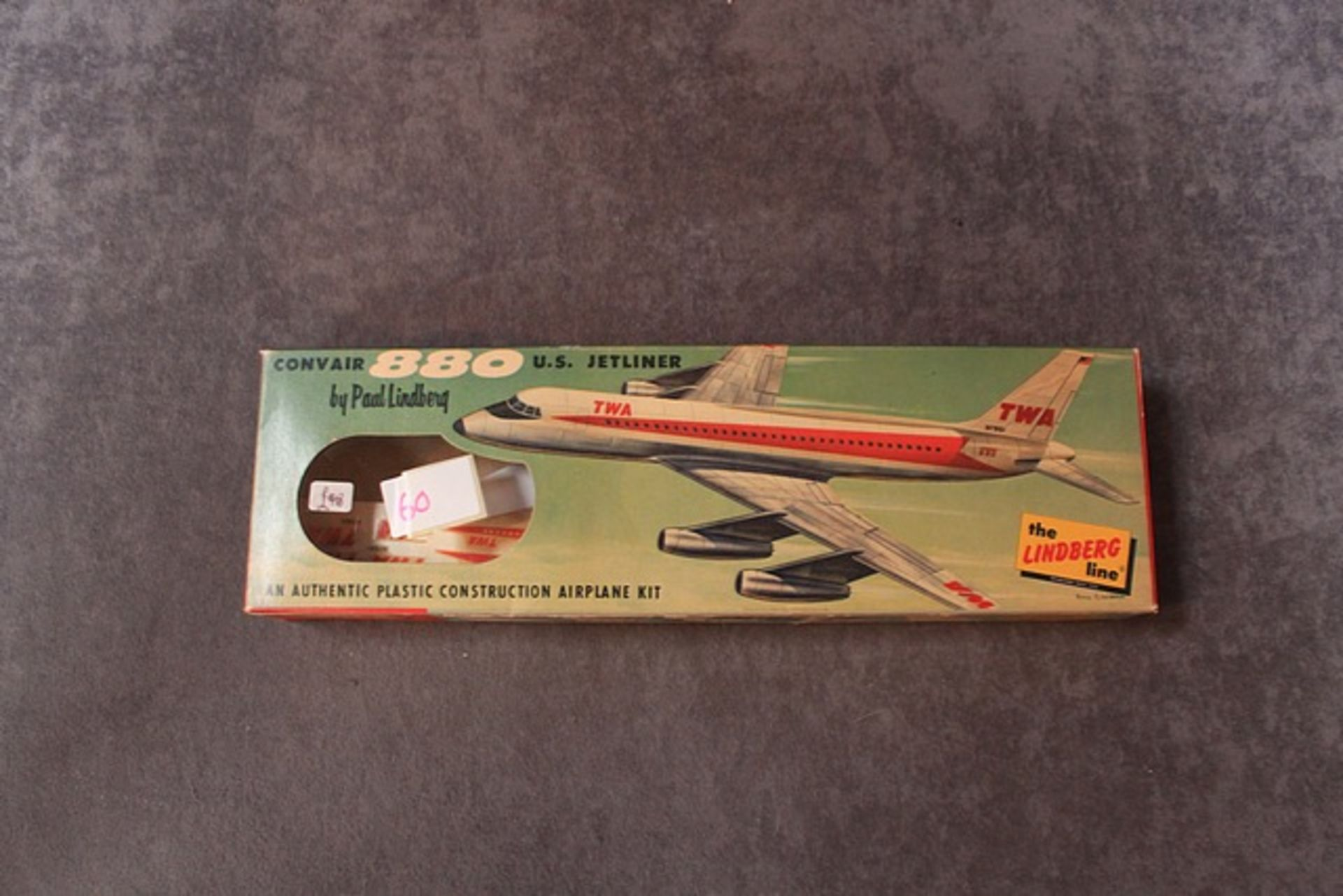 Lot 60 - The Lindberg Kit No 452:49 Conair 880 US Jetliner In Great Unopened Box