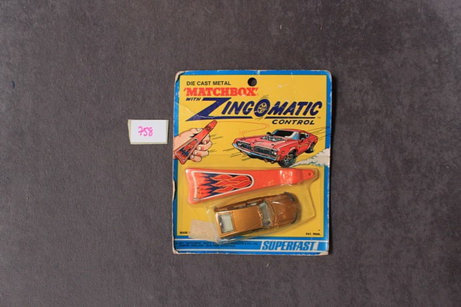Lot 758 - Match Box Die Cast With Zingomatic Control On Unopened Card