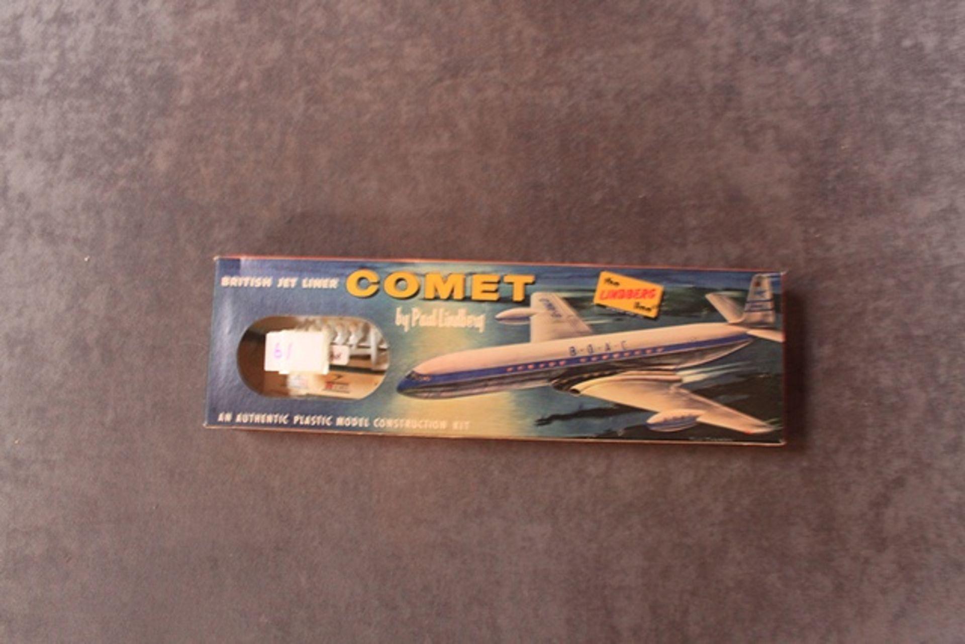Lot 61 - The Lindberg Kit No 455:49 British Jet Liner Comet In Great Unopened Box
