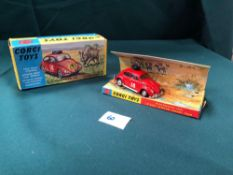 Mint Corgi Toys Diecast 256 Volkswagen 1200 In East African Safari Trim With Enough Packaging In A