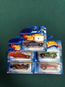 5x Hot Wheels Pride Rides Diecast Vehicles - On Unopened Card, Comprising Of; Mustang 1968, Dodge