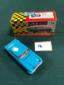 Lone Star Flyers Diecast Model #17 Mercedes-Benz 220SE In Blue With A White Interior In Box