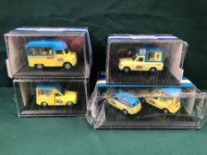 4x Oxford Ice Cream Vans Diecast Models All On Display Boxes, Comprising Of; #ANG033 Anglia Lyons