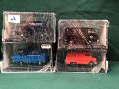 4x Oxford Diecast Models All On Display Boxes, Comprising Of; #CA007 Royal Mail Certificate 0790