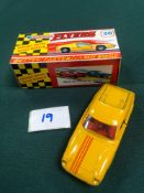 Lone Star Flyers Diecast Model #36 Lotus Europa GT In Yellow With Red Stripe And Red Interior In