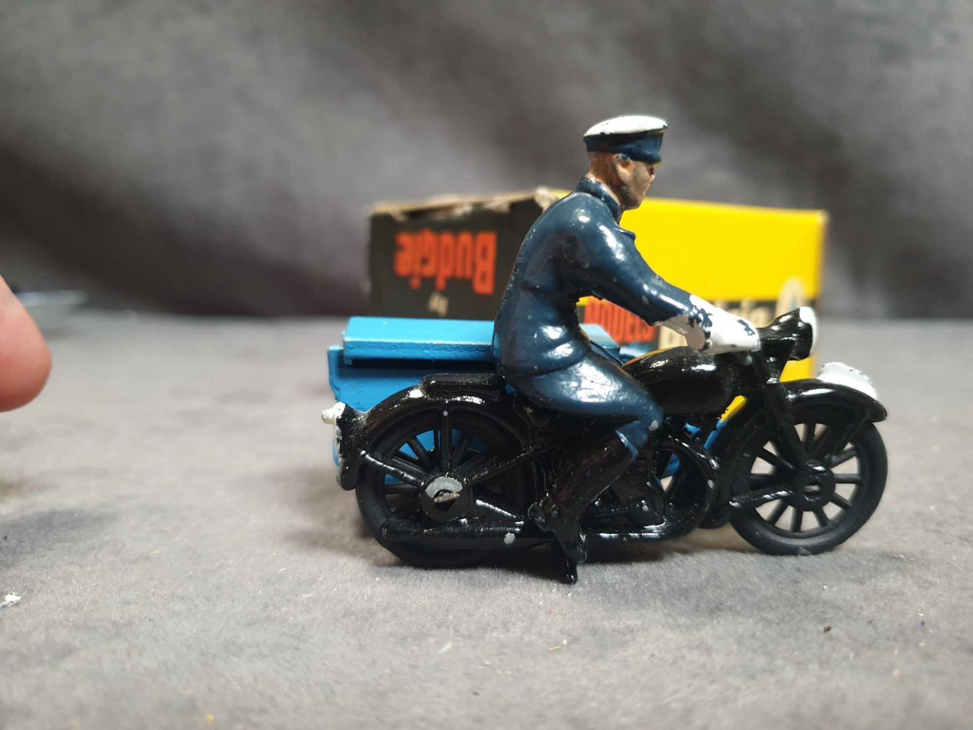 Virtually Mint Budgie Toys England #454 RAC Motorcycle Patrol Diecast;In Excellent Firm Box (Tiny - Image 3 of 5