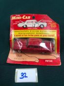 Lone Star MP Minicar Diecast #10 Jaguar Mark X In Red On Bubble Card