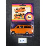Siku Diecast #1320 Ford Transit School Bus On Original Bubble Card